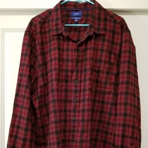 Men's Apt 9 Slim Fit Soft Touch Flannel Red Plaid